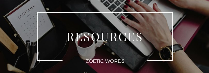 zoetic words resources