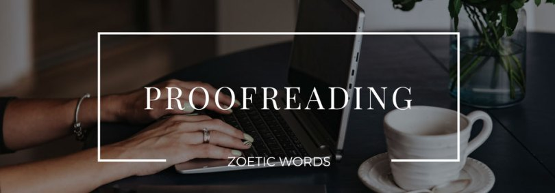 zoetic words service proofreading
