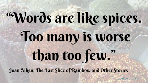 Words are like spices