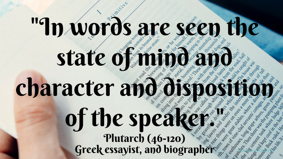 In words the speaker
